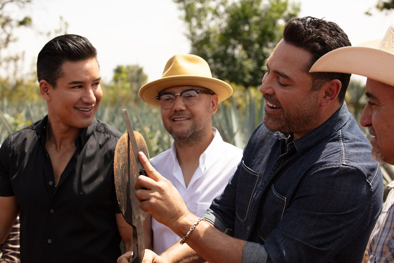 Mario Lopez tequila. Casa Mexico friends and partners having fun and talking about the beginning of their deal, brand, friend ship and partner ship